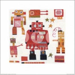 Art Group Slika Anne Davies D Red Robots 40 X 40Cm SLIKA