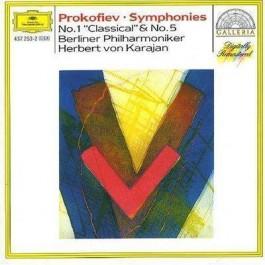 Berliner Philharmoniker Herbert Von Karajan Prokofiev Symphonies 1&5 CD
