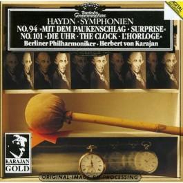 Berliner Philharmoniker Karajan Haydn Symphonien Nr.94 mit Dem Paukenschlag, Nr.101 die Uhr CD