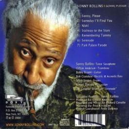 Sonny Rollins Sonny, Please CD