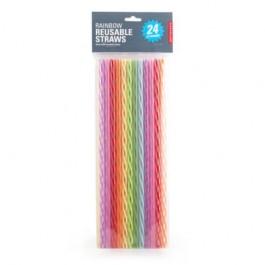 Kikkerland Slamke Plastične Rainbow 24 Kom RAZNO