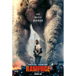 Brad Peyton Rampage Totalni Kaos BLU-RAY