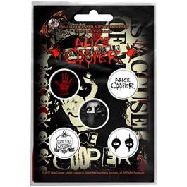 Alice Cooper Button Badges 5 Komada BADGE