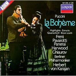 Mirella Freni Luciano Pavarotti Puccini La Boheme Highlights CD