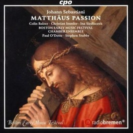 Boston Early Music Festival Chamber Ensemble Sebastiani Matthaus Passion CD